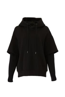 Knit Sleeved Hooded Sweatshirt by Goen. J