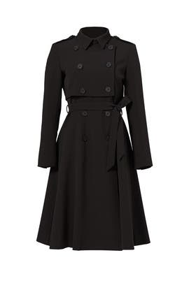 Black Nora Trench Coat by Line + Dot