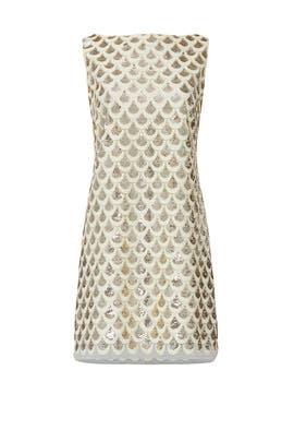Scallop Sequins Rhea Dress by Milly