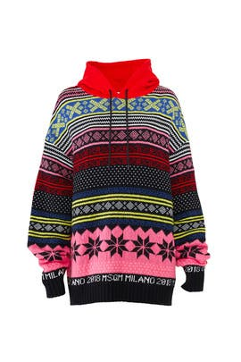 Pattern Mix Hooded Sweatshirt by MSGM