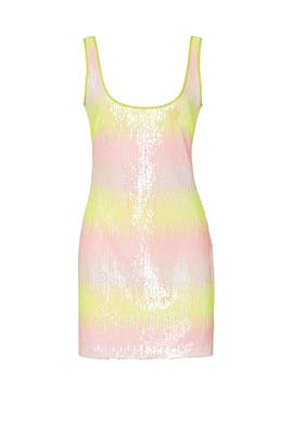 Ombre Sequin Mini Dress by NAEEM KHAN