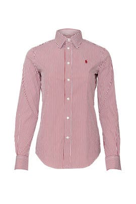 Red Striped Shirt by Polo Ralph Lauren