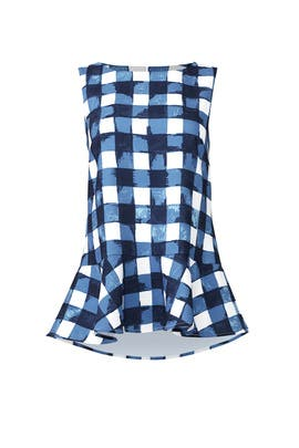 Blue Gingham Top by Sail to Sable
