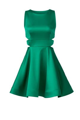 Emerald Cutout Dress by Cynthia Rowley