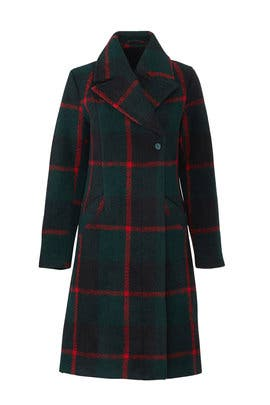 Green Check Emeline Coat by Just Female