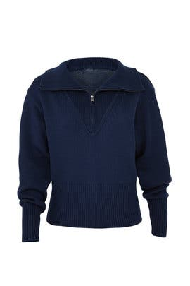 Navy Zip Up Sweater by Jil Sander Navy