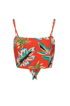 Tropical Back Tie Top by Moon River