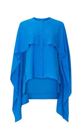 Blue Cape Top by Prabal Gurung Collective