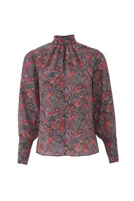Hudson Paisley Top by Rebecca Taylor