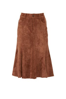 Faux Suede Flare Skirt by Slate & Willow