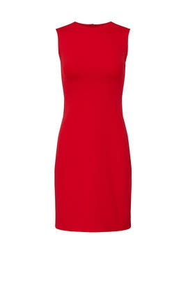 Red Fitted Sheath by Theory
