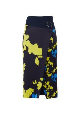 Camo Floral Samra Skirt by Tanya Taylor