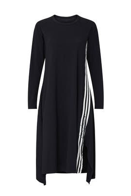 Black Side Stripe Midi Dress by Y-3