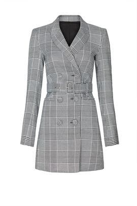 Plaid Blazer Dress by BARDOT