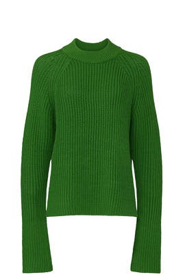 Green Oversized Crewneck Sweater by Club Monaco