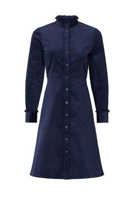 Navy Corduroy Shirt Dress by Draper James