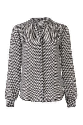 Houndstooth Mintee Blouse by Joie