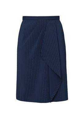 Draped Pinstripe Pencil Skirt by Jason Wu x ELOQUII