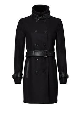 Black Belted Trench Coat by The Kooples
