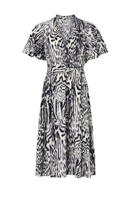 Animal Print Pleated Dress by RACHEL ROY COLLECTION
