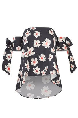 Floral Off Shoulder Tie Top by Sachin & Babi
