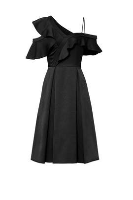 Ruffle Me Black Dress by Slate & Willow