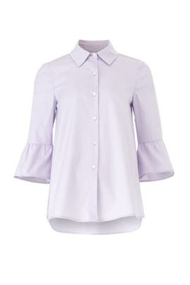 Lilac Oxford Maternity Shirt by Slate & Willow