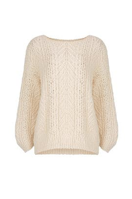 Cream Cable Sweater by VINCE.