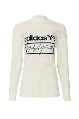 White Logo Sweater by Y-3