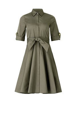 Army Green Shirtdress by Badgley Mischka