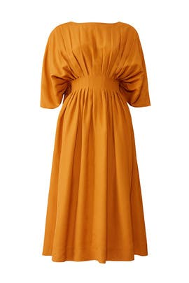 Amber Pleated Midi Dress by Co