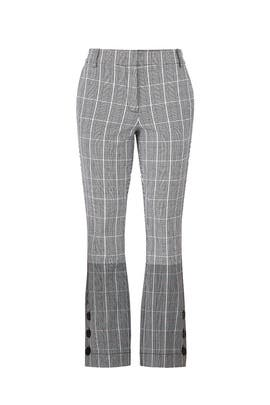 Plaid Crop Flare Trousers by Derek Lam 10 Crosby