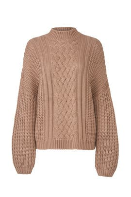 Cable Mock Neck Sweater by EVIDNT