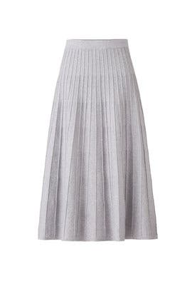 Tin Grey Knit Skirt by Jason Wu Grey