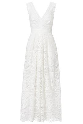 White Lace Jumpsuit by Temperley London