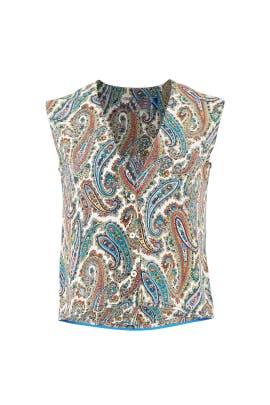 Barton Ivory V-Neck Shirt by Diane von Furstenberg