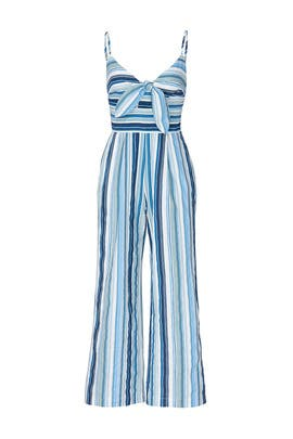 Front Tie Spaghetti Strap Jumpsuit by Moon River