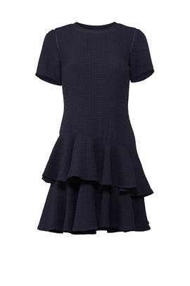 Navy Tiered Dress by Rebecca Taylor