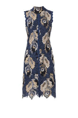 Blue Floral Lace Dress by See by Chloe