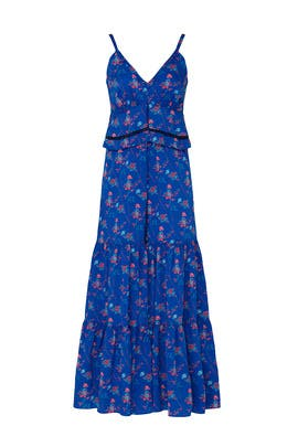 Blue Floral Wide Leg Jumpsuit by Thakoon Collective