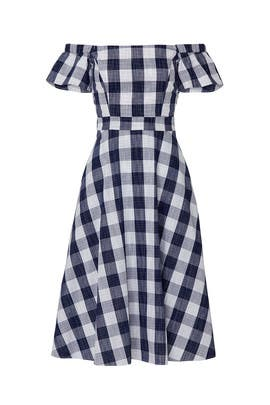 Off The Shoulder Gingham Dress by Adelyn Rae