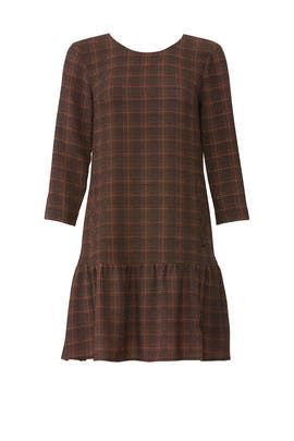 Plaid Ruffle Shift Dress by Slate & Willow
