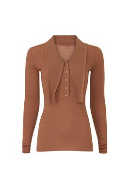 Allonge Collar Ribbed Sweater by Tibi