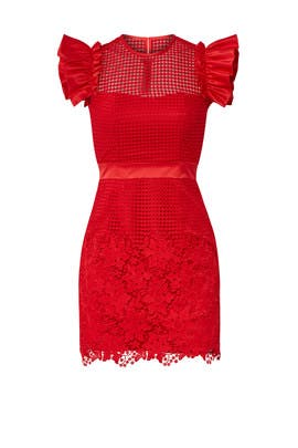 Red Karlie Dress by UnitedWood