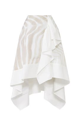Asymmetrical Ruffle Skirt by ADEAM