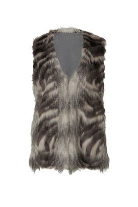 Vivianna Faux Fur Vest by cupcakes and cashmere