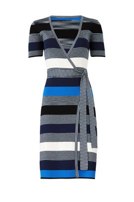 Oxford Multi Knit Wrap Dress by Diane von Furstenberg