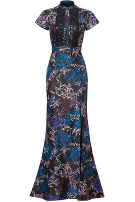 Wisp Floral Chiffon Dress by Emanuel Ungaro