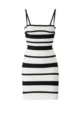 Striped Bandage Dress by Hervé Léger