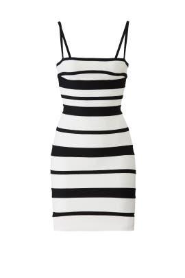 Striped Bandage Dress by Hervé Léger